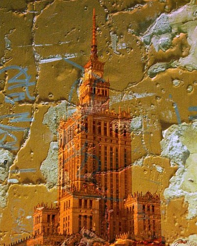 That's the Pałac Kultury i Náutico (Palace of Culture &  Science) , the tallest building in #warsaw. Hated by many as a reminder of the Soviet era,  I find it lovely ;) This was shot and created back in 2007.  #poland #architecture #sovietunion #digitalart