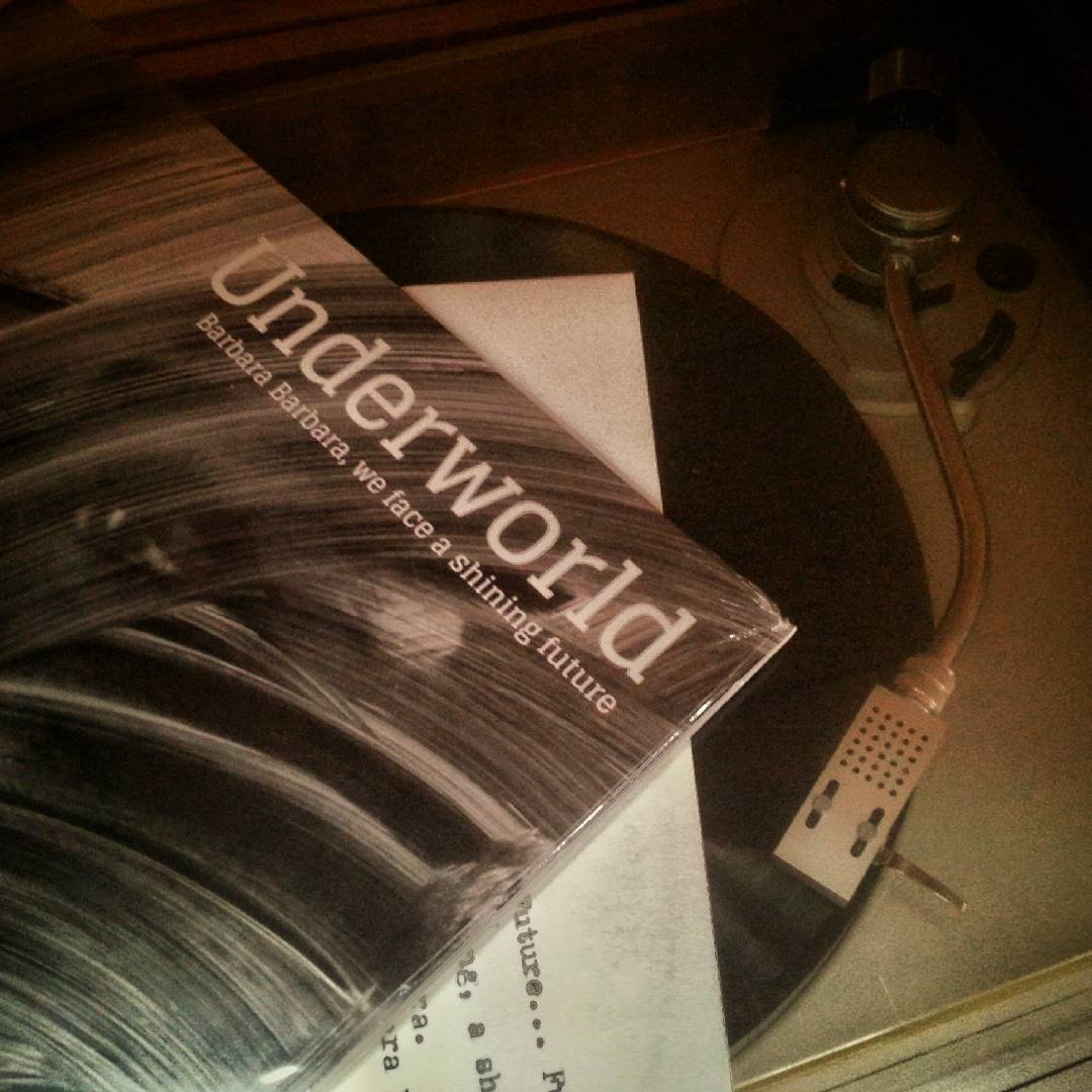 Spinning: Barbara Barbara, we face a shiny future by Underworld.  #vinyl #lp #electronica