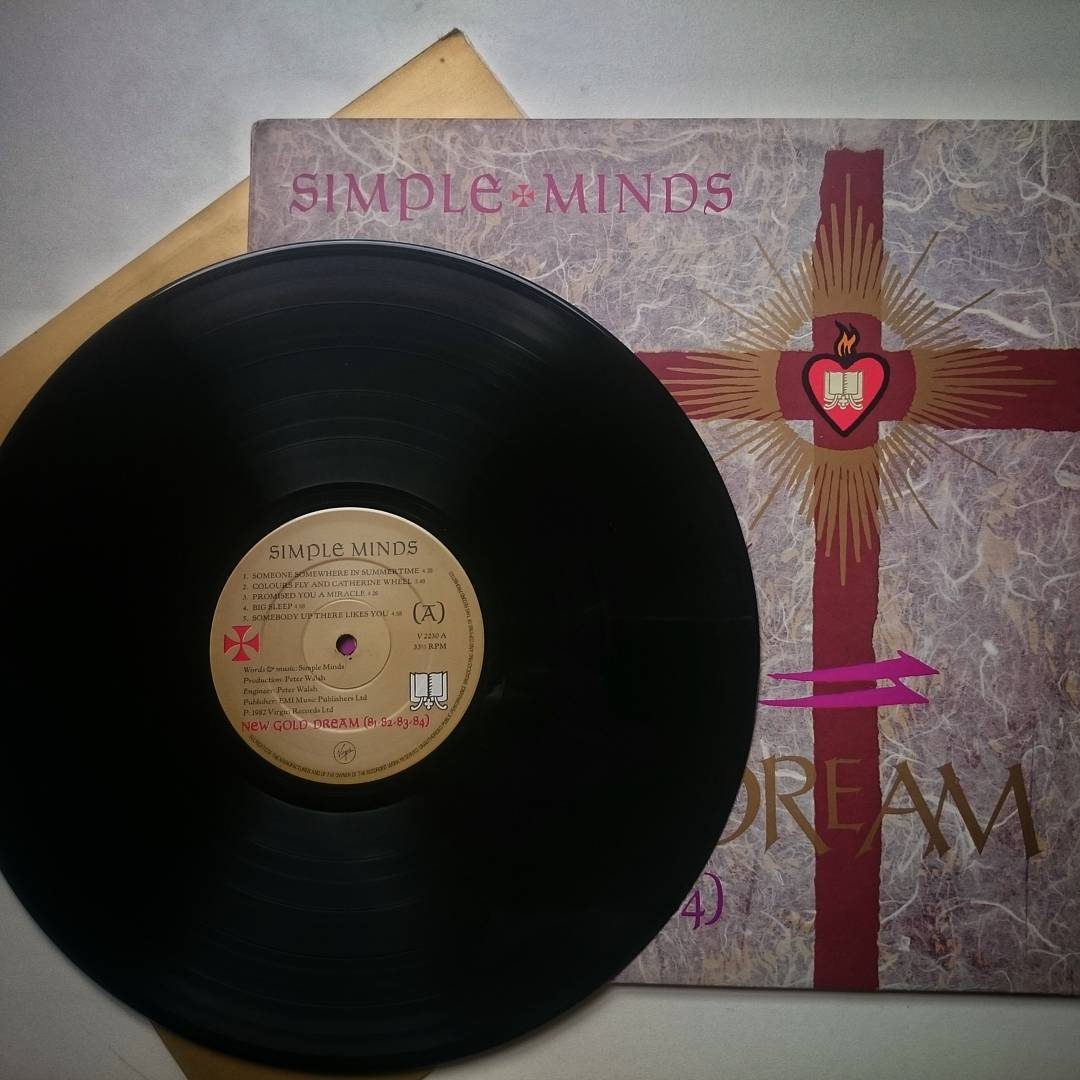 Simple mind's New Gold Dream (81/82/83/84) is one of my favorite albums from the 80's. #vinyl #lp