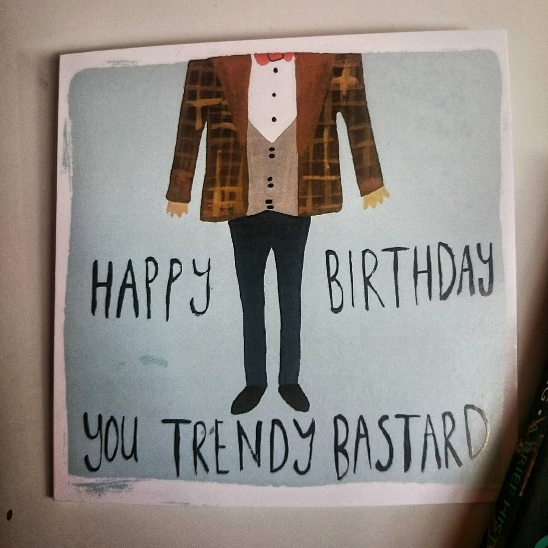 My colleagues got me this birthday card,  for a moment I thought it was custom made ;)
