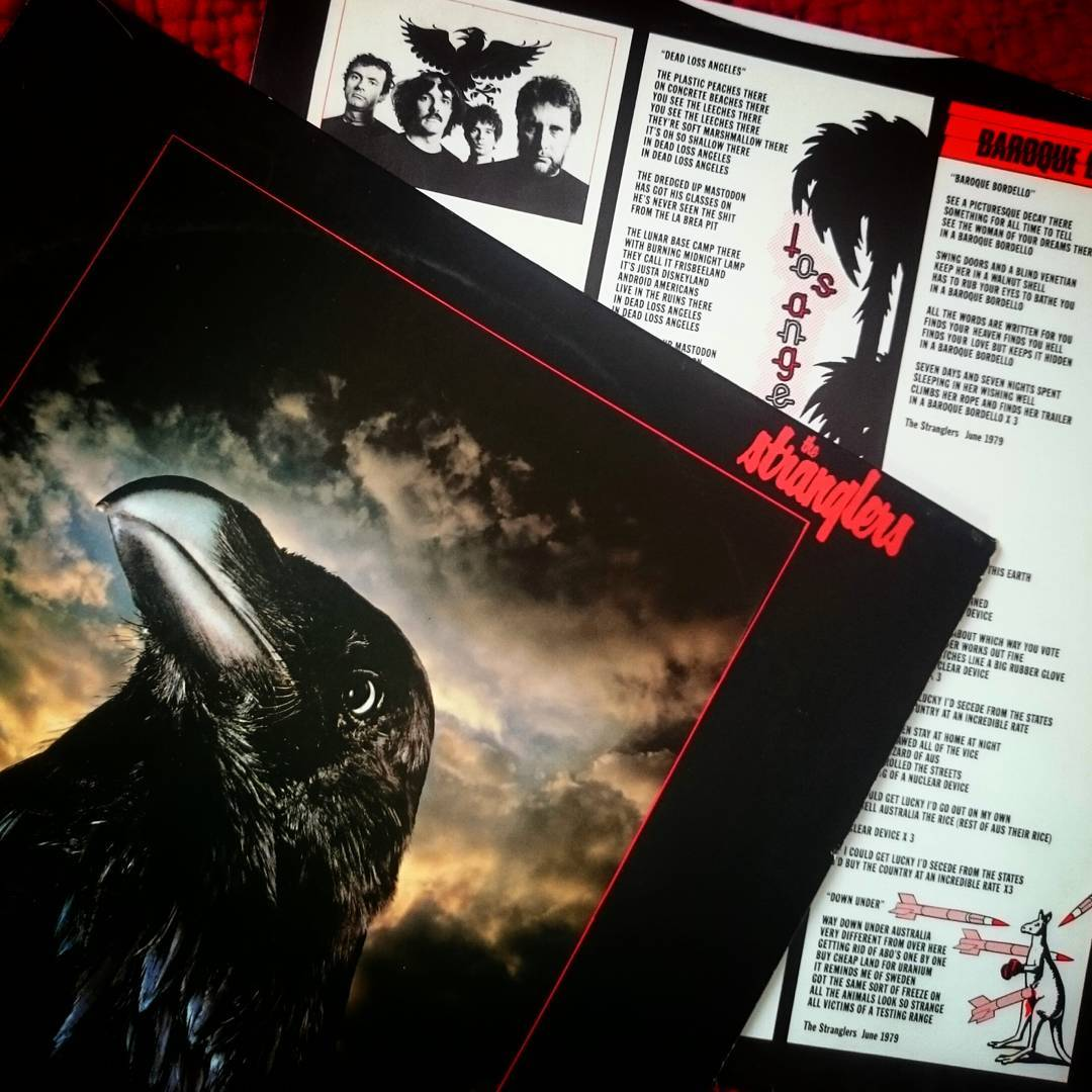Spinning The Raven by The Stranglers.  #postpunk #thestranglers #raven #vinyl #lp #cratedigging #1970s #1979