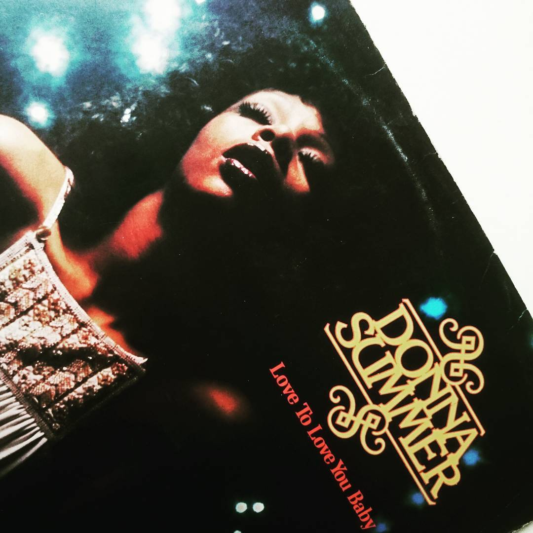 Donna Summer -  Love to love you baby,  cowritten and produced by Giorgio Moroder and Peter Bellotte. Released 41 years ago give or take a few days.  #vinyl #moroder #nowspinning #karekles