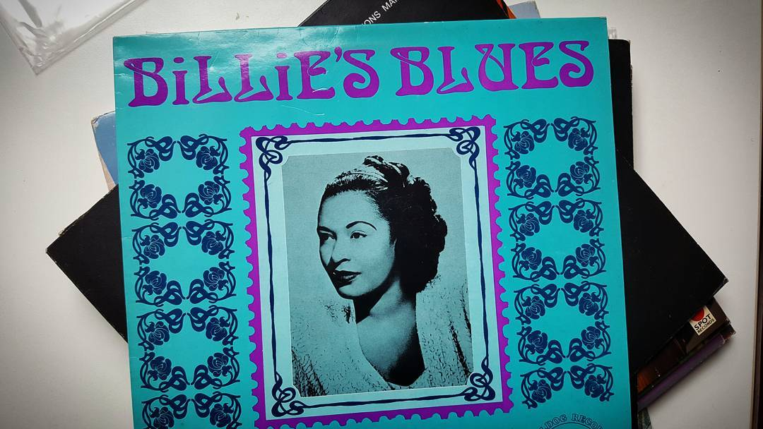 "Billie's Blues -  Billie Holiday,  1976. A compilation by a label with  a funny name called ""Bulldog Records"" . I think (or I would like to think)  that my 7 weeks old daughter enjoys this one😸. #billieholiday #record #vinyl #12inch #1976 #jazz #swing #blues"
