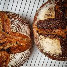 🍞 2 versions of homemade sourdough bread my beautiful woman made today. 🍞